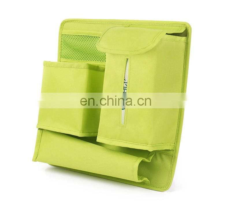 High quality applied car seat organizer with tissue pocket
