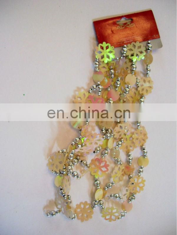 BEADED GARLAND CHRISTMAS TREE DECORATIONS