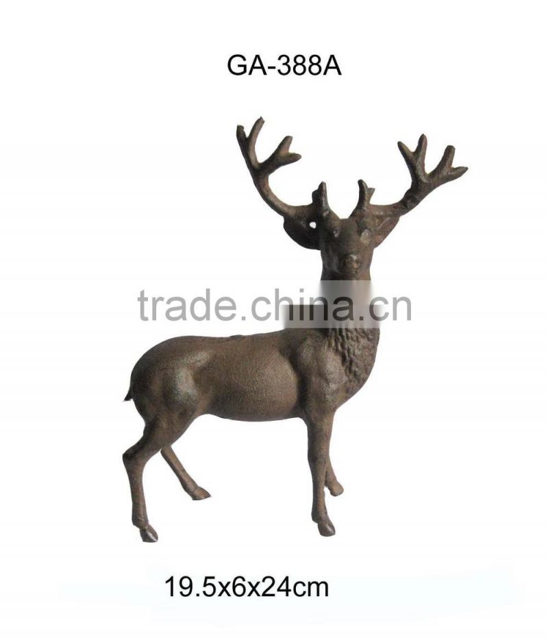Cast iron small animal deer statue