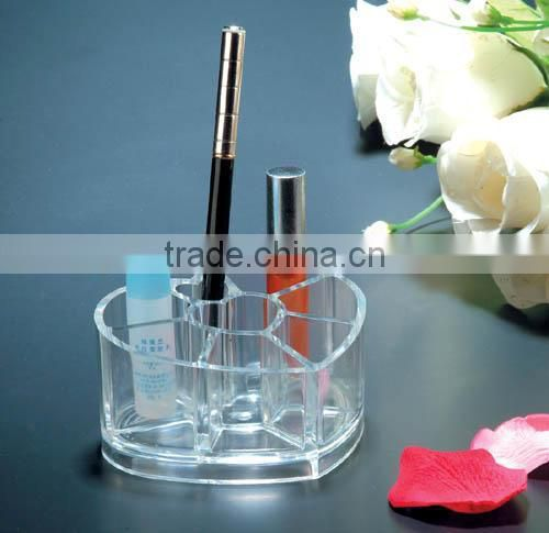 hot selling transparent cosmetic product display stands