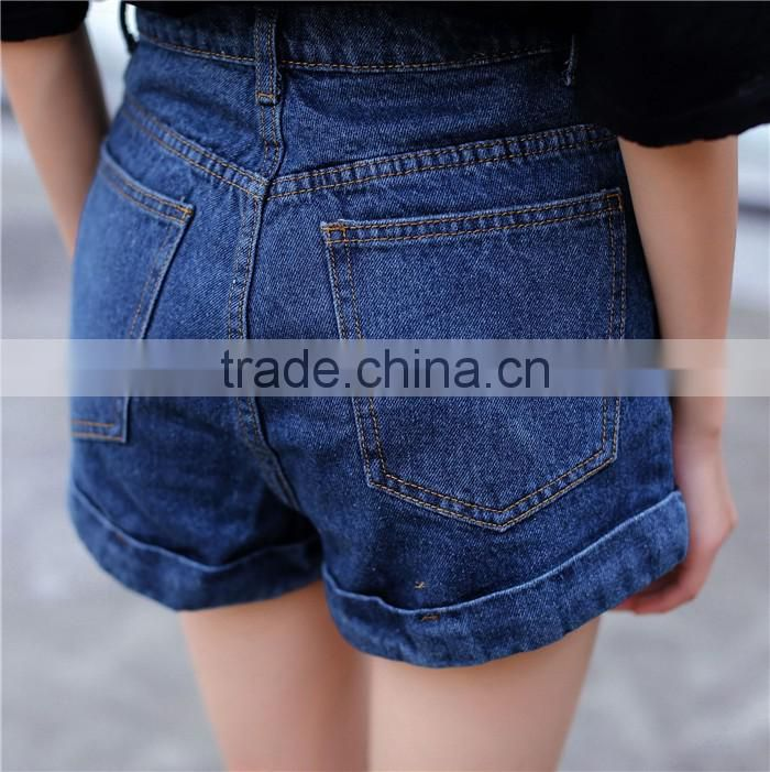 2016 latest new design fashion short jeans for women
