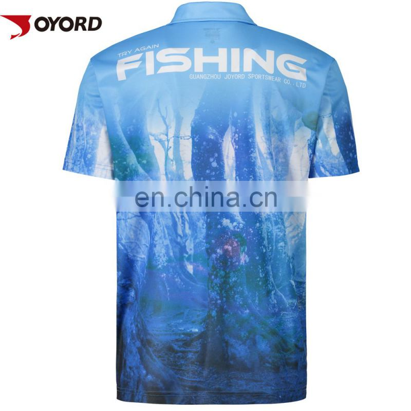 Cool style quick dry printed fishing jersey wholesale