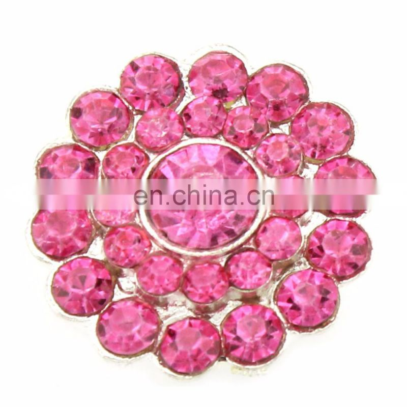 2016 Trendy Alloy Colorful Rhinestone Button Clear Crystal for Accessories with High Quality Plating
