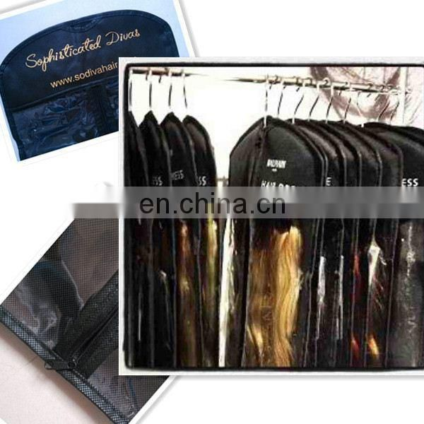 wholesale clear plastic hair extensions packaging bags