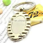 Wholesale custom made high quality fancy souvenir silver spoon keychain