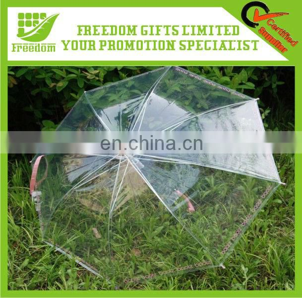 Logo Branded PVC See Through Umbrella