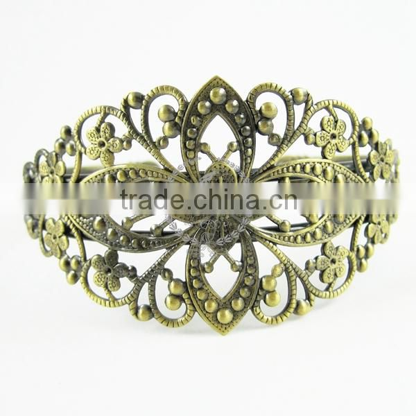 70*60mm vintage brass oval base tray bezels bracelet blank,antiqued bronze bracelet cuff tray bezels 1900010