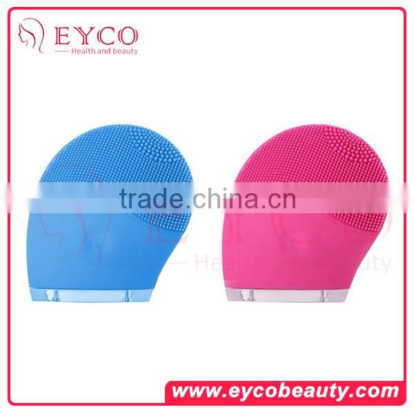 Multi-Functional Mini Silicone Vibration Facial Cleansing Brush with beauty care equipment and supersonic facial beauty device