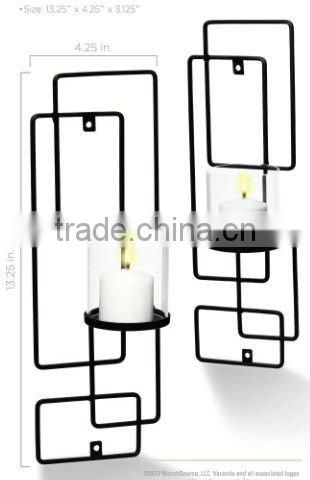 2-pack decorative sconce set