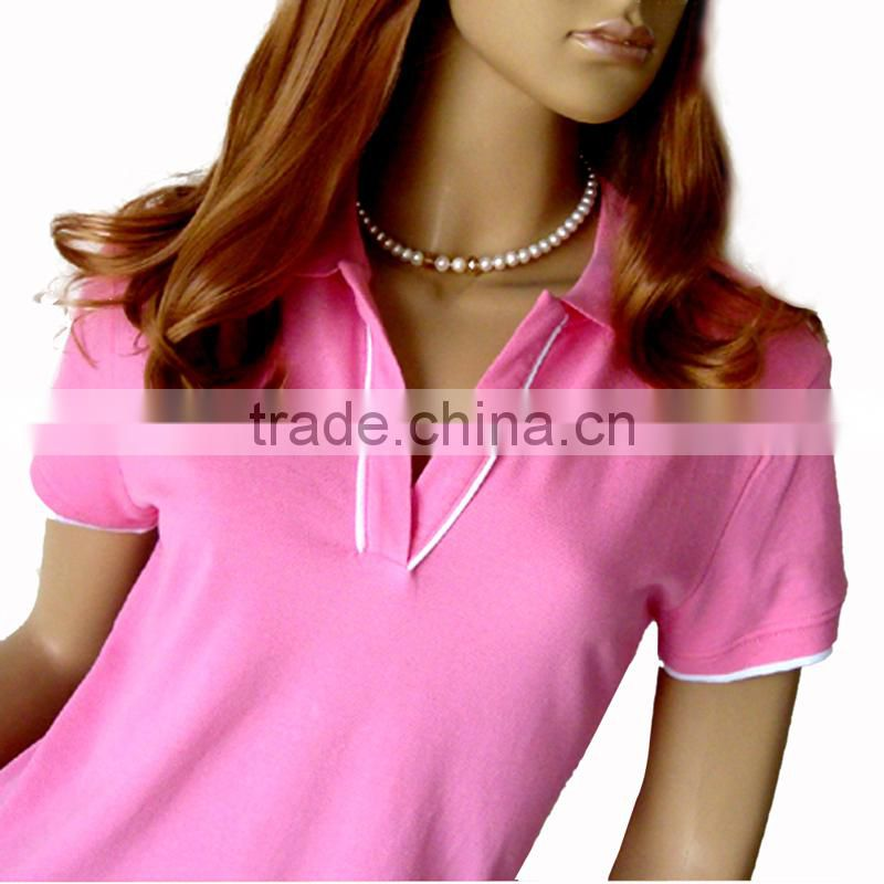 Fashion new design Ladies plain Polo Shirt