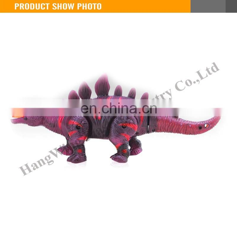Battery operated musical lighting walking electric mini dinosaur