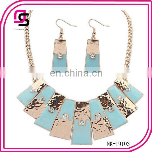 New arrival style short necklace earring bracelet Jewelry Set 2014