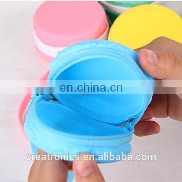 CR best selling products in europe earphone bag lovely round shape yellow fashion noble squeeze coin purse