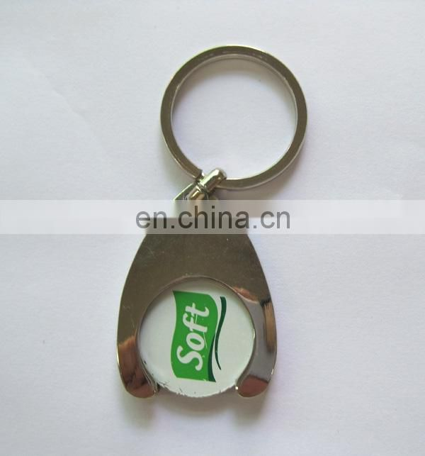 promotional car branded badge shopping cart coin holder keychain