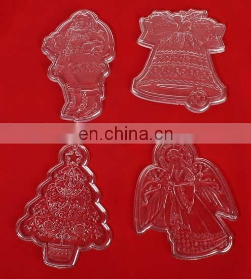 laser carving pmma plexiglass acrylic christmas ornaments