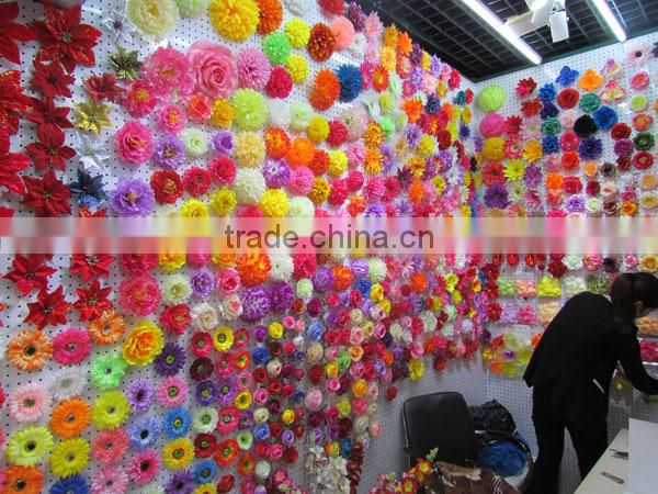 Cheap silk stocking flower heads for clothes (AM-F-27)
