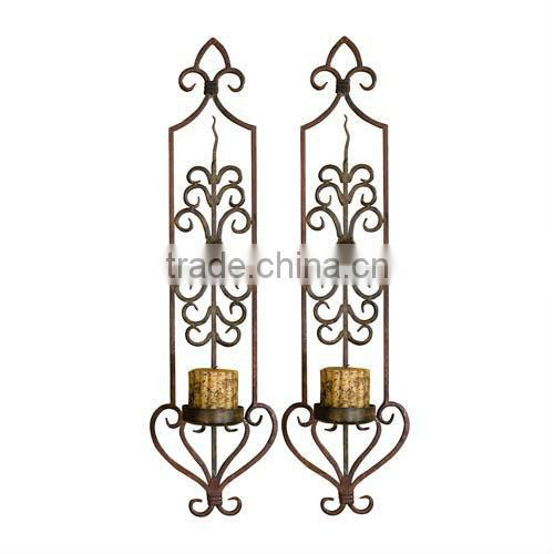 2013 New design metal wire decorative candle wall sconces