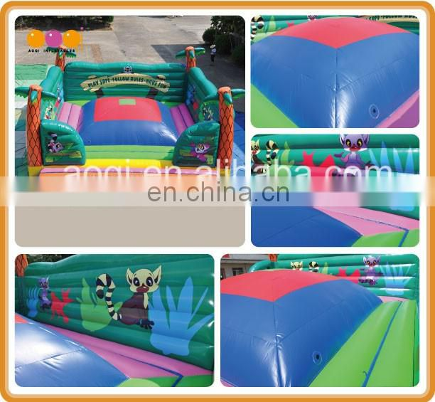 Outdoor inflatable play equipment inflatable soft mountain, inflatable soft play, inflatable soft air mountain with platform