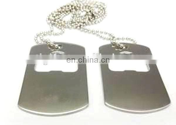 Custom design stainless steel dog tag bottle opener