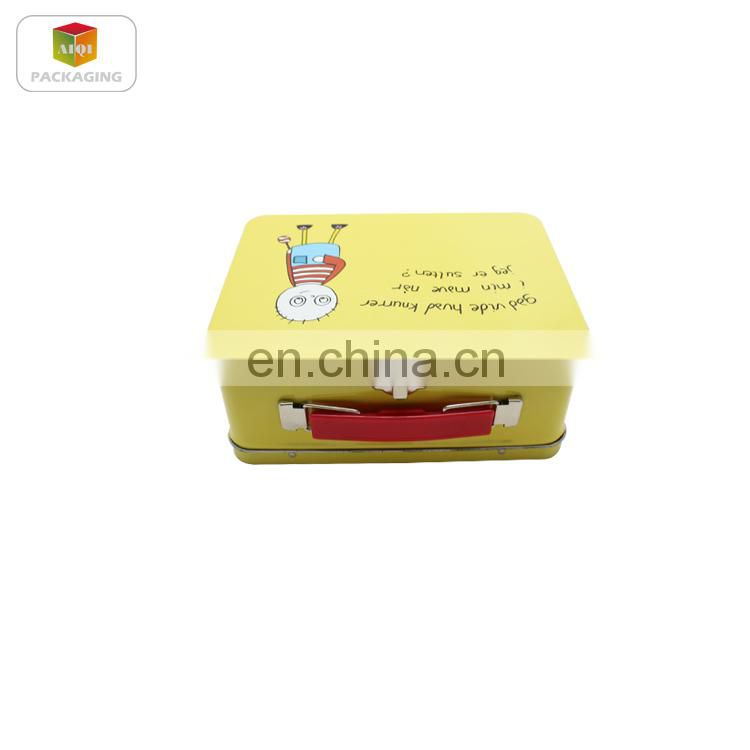 wholesale tote tin lunch boxes for lunch or snacks packaging