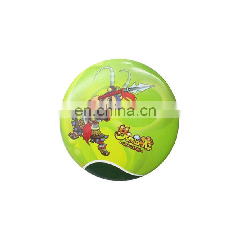 Custom round paper sticker metal pin badge wholesale