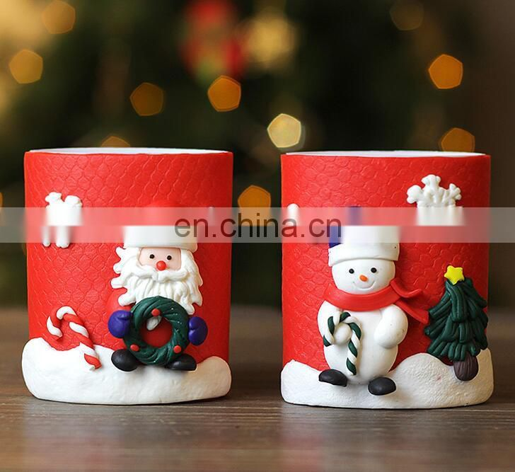 Cute Hand Made Polymer Clay Character Pen Organizer/Holder - Great for Christmas Stock Gift