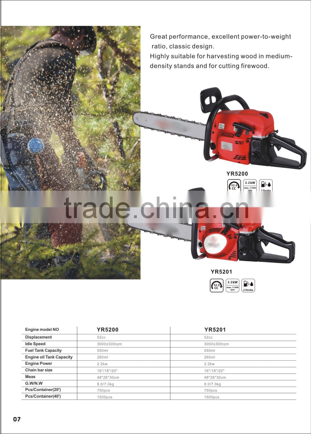 (936) new design gasoline chainsaw 6200cc with CE and GS certificate
