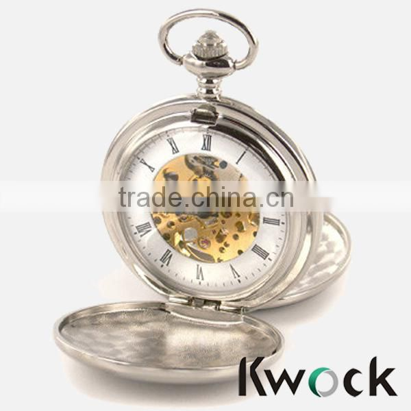 Fashion Roman numeral cased quartz movement cheap pocket watch