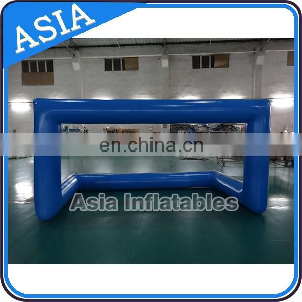 Blue Inflatable water volleyball polo goal for water sport park