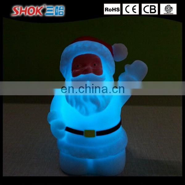 Plastic table lamp LED night light for christmas festeval