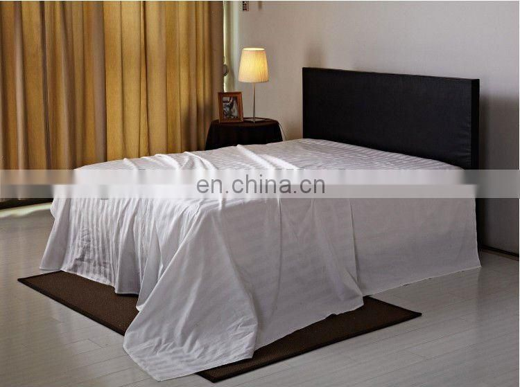100% cotton white stripe bed sheet/flat sheet/stripe fabric for hotel,hospital