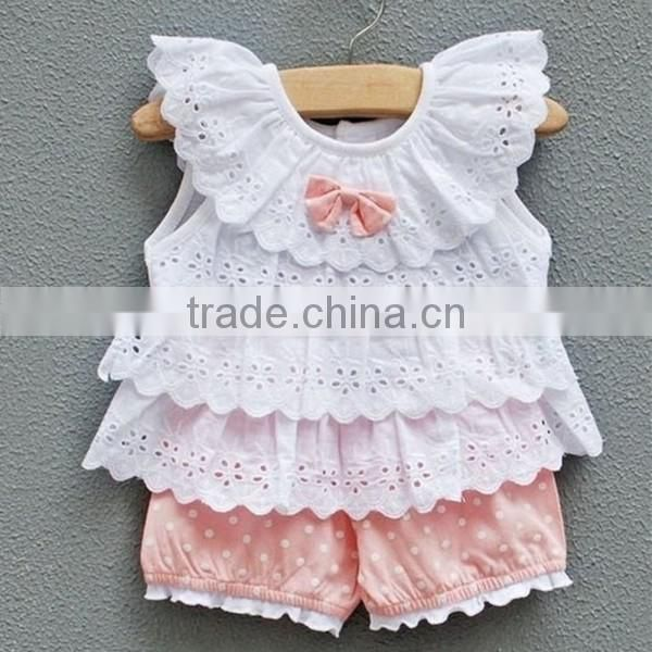 20b9d2158b73 Wholesale carters newborn baby clothes lace ruffle tops and shorts ...