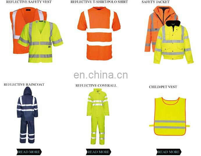 High visibility outdoor work safety reflective T shirts