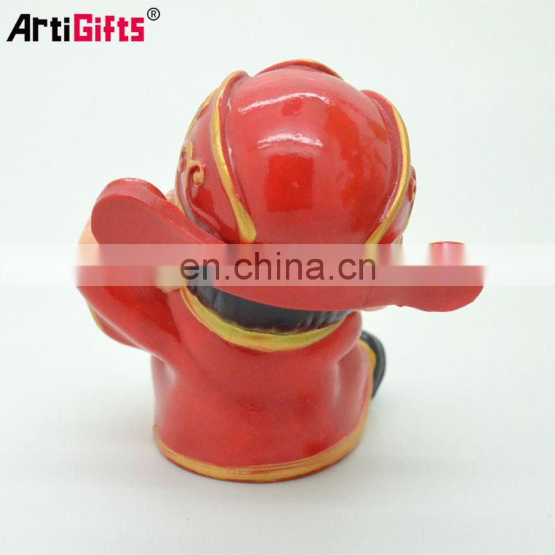 Customize 3d plastic cartoon chinese style resin craft