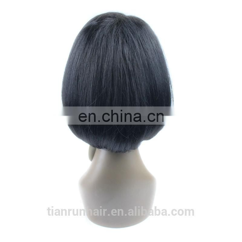 7A quality Malaysian short lace front wig for young lady