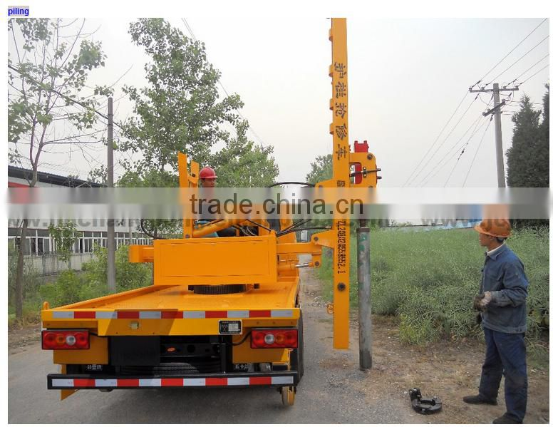 Diesel truck mounted pile driver guardrail electric pile
