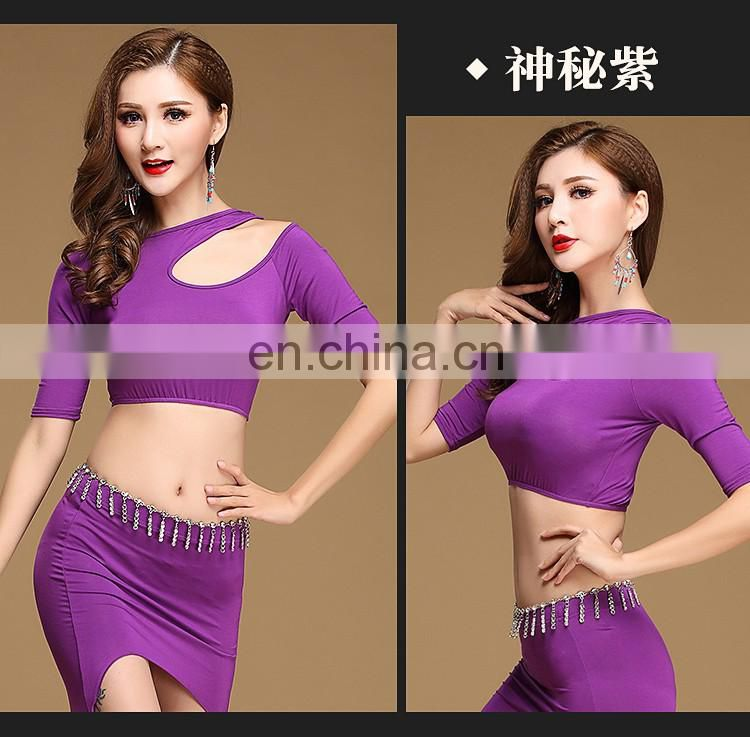 S-3103 Wholesale sexy modal four colors belly dance top