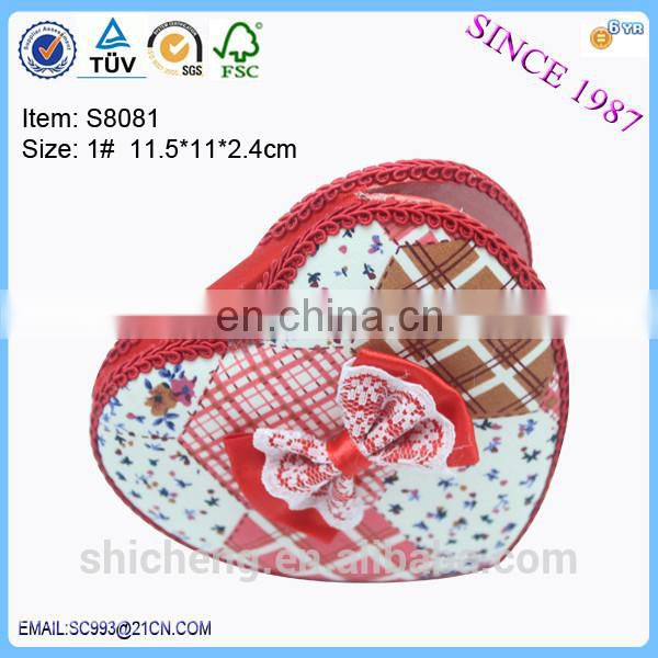 2016 heart shaped pocket mirror with led light