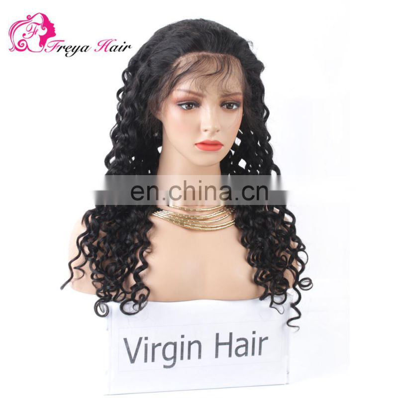 Fashion Italian Wave Rihanna Hot Selling Good Feedback Natural Color 100% Human Hair Virgin Brazilian Lace front Wig