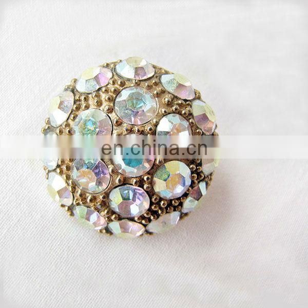 Trendy hot rhinestone skull buttons