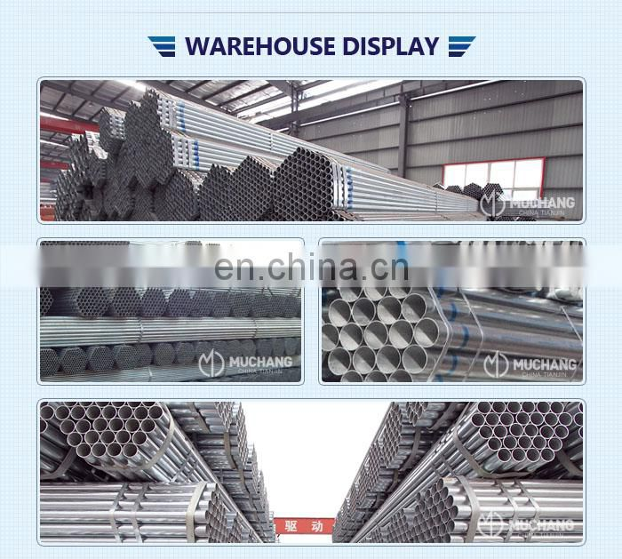 pre-galvanized steel tube /round erw carbon gi pipe