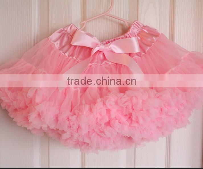 2014 hot sell baby girls light pink pettiskirts with bow headband and toddler flower sets