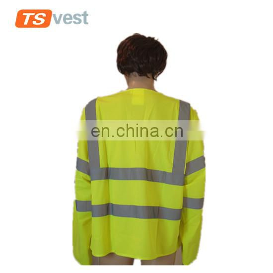 long sleeve security clothing traffic vest