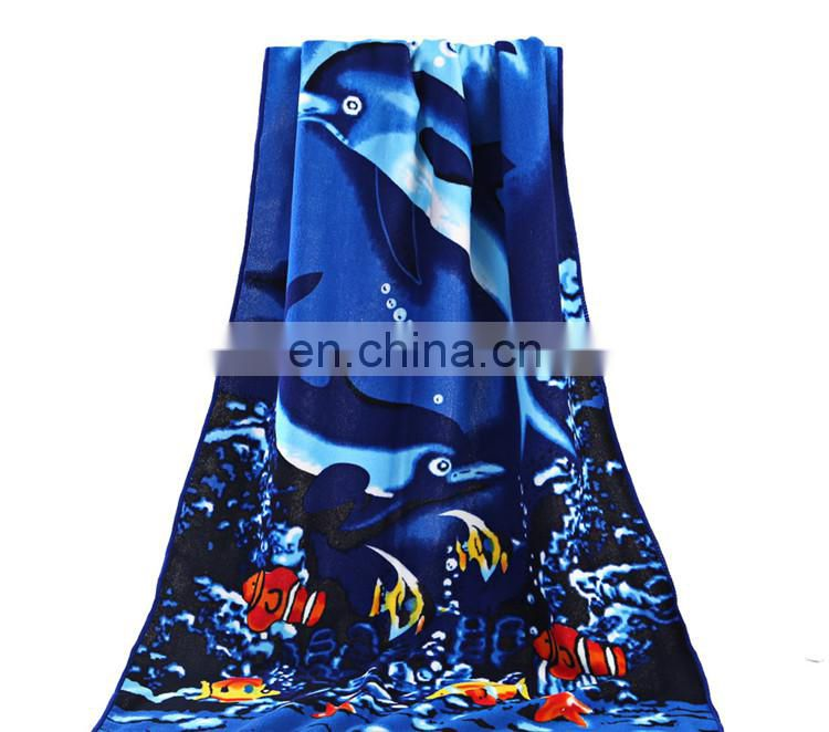 Promotional Frozen Designs Reactive Printed Microfiber Beach Towel