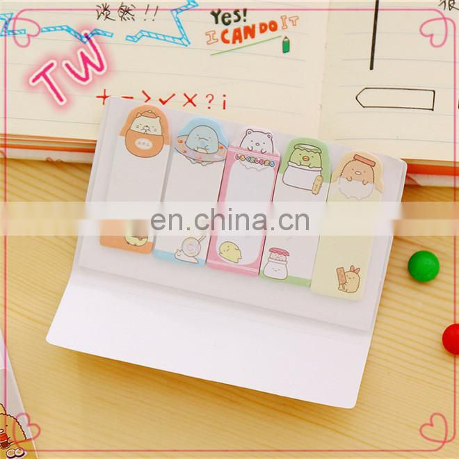 Korean Best Selling logo custom die cut different letter shaped self-ahesive colored paper sticky notes for office and school