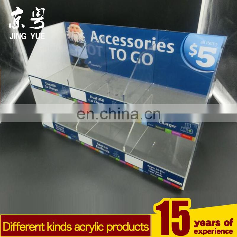 New Design Cell Phone Accessory Fixtures Countertop Pmma Plexiglass Acrylic Material Cell Phone Accessories Display