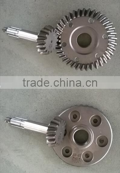 factory best qualiy auto rickshaw parts crown wheel pinion and tapered pinion