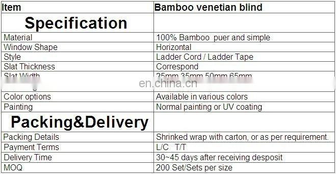 Painted bamboo indoor curtains