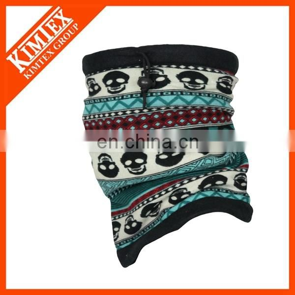 Fashion printing polar fleece neck gaiter