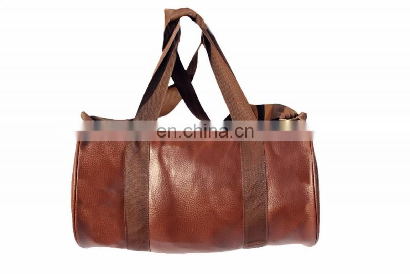 synthetic leather duffel bag